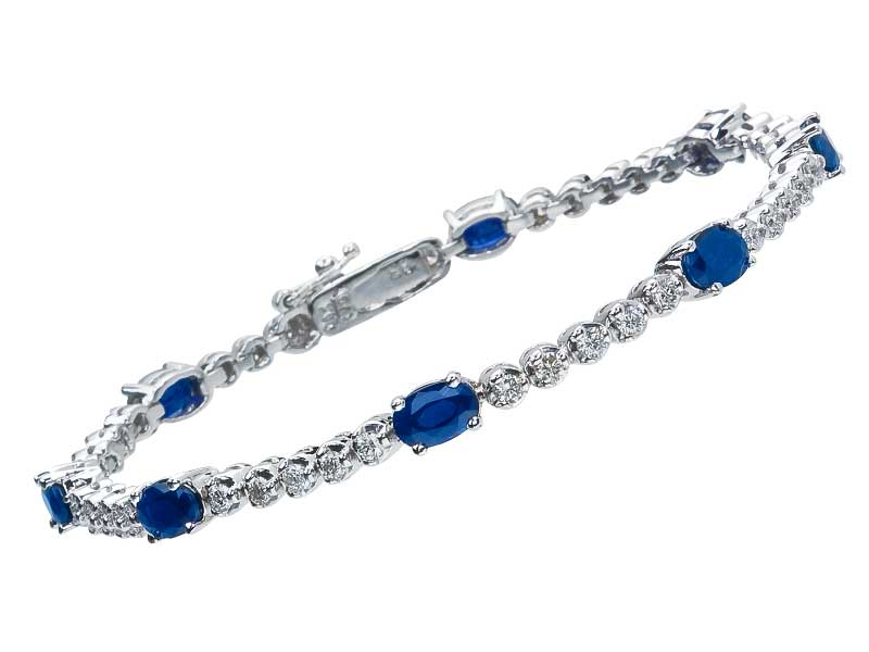 ct stunning for gemstoneking sterling bangles sapphire silver women with item extender bracelet gorgeous created