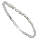 14K White Gold Comfort Fit Bangle (G/SI2, 1.70ct)