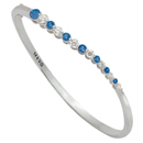 14K White Gold Comfort Fit Bangle (G/SI2, D-0.80ct, S- 1.10ct)