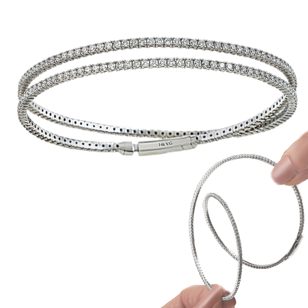 1f6c77b4b4cac McGivern's Fine Jewelry & Gifts - 7.37ctw. 14K white gold flexible ...
