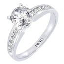 14K White Gold Bridal Engagement Ring (G/SI2 0.25ct)