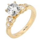 14K Yellow Gold Bridal Engagement Ring (SI2/G, D-0.47ct)).