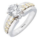 18K Two-tone Engagement Ring (SI2/ G, 0.59ct.).