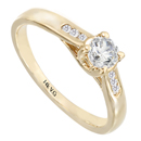14K Yellow Gold Bridal Engagement Ring (SI2/G, D-0.35ct)