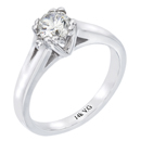 14K white gold  bridal engagement ring (G/SI2 0.04ct)