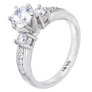 14K white gold bridal engagement ring (G/SI2, 0.44ct)