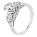 18K White Gold Bridal Engagement Ring (SI2/G, 0.55ct. )