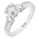 14K white gold bridal engagement ring (G-H/VS, 0.30ct.)