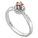 14K White Gold Pink Diamond Comfort Fit Ring (SI2/G, D-0.13ct, PD-0.27ct.)