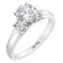 14K White Gold Comfort Fit Engagement Ring (H-I/VS 0.33ct)