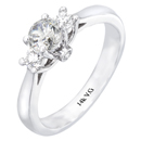 14K White Gold Bridal Engagement Ring (G/SI2 0.28ct)