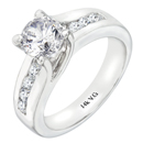 14K White Gold Engagement Ring (G/SI2 0.45ct)
