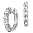 14K white gold pair of diamond earrings (G /SI2,1.02ct)