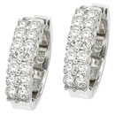 14K white gold pair of diamond hoop earrings (G/SI2, 0.62ct)