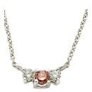 14K White Gold, Pink Diamond Comfort Fit Necklace (SI2/G, D-0.23ct. PD-0.23ct.)
