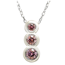14K White Gold Pink Diamond Comfort Fit Pendant (PD-0.24ct.)