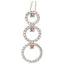 14K White Gold Pink Diamond Comfort Fit Pendant (SI2/G, D-0.55ct, PD-0.15-ct.)