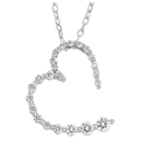 14K white gold Journey pendant (G/SI2,0.51ct)