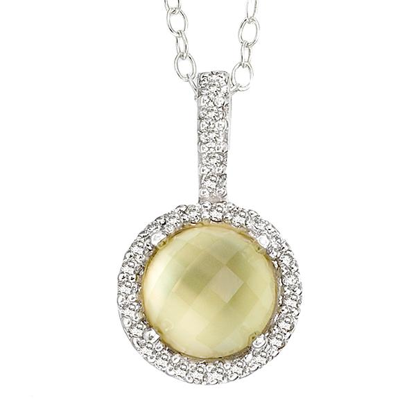Demo fine jewelers 14k white gold semi precious quartz pendant g semi precious pendants aloadofball Gallery
