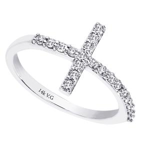 fiscus jewelers 14k white gold and cross