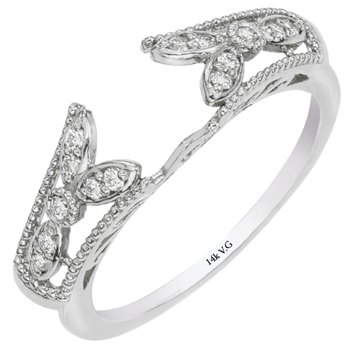 miller s jewelry 14k white gold wrap engagement ring