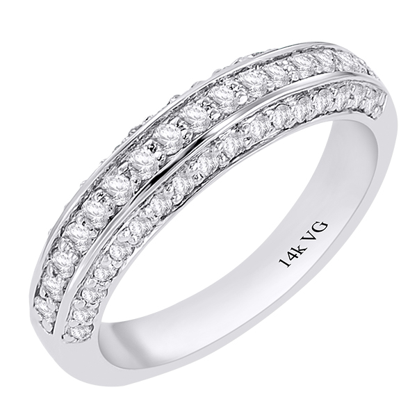Fine Rings Solid 14k White Gold 0.98ct Round Eternity Diamond Engagement Wedding Band Jewelry & Watches