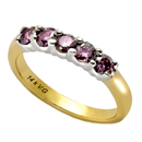 14K Two-Tone Gold Pink Diamond Comfort Fit Ring (PD-0.75ct.)