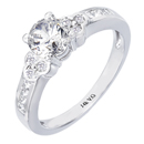 14K white gold engagement  ring (SI2,VS/G,H, D-0.23 ct.)